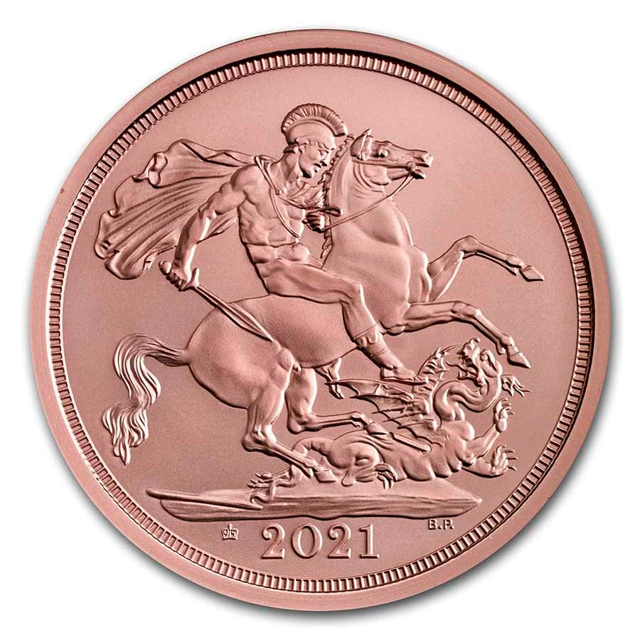 2021 GB Gold Celebration Sovereign (95th Birthday of The Queen)