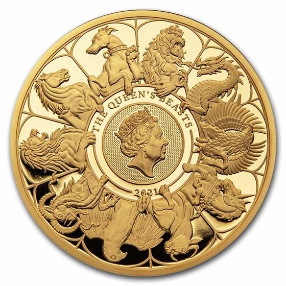 2021 GB Proof 10 oz Gold Queen's Beasts Collector (Box & COA)