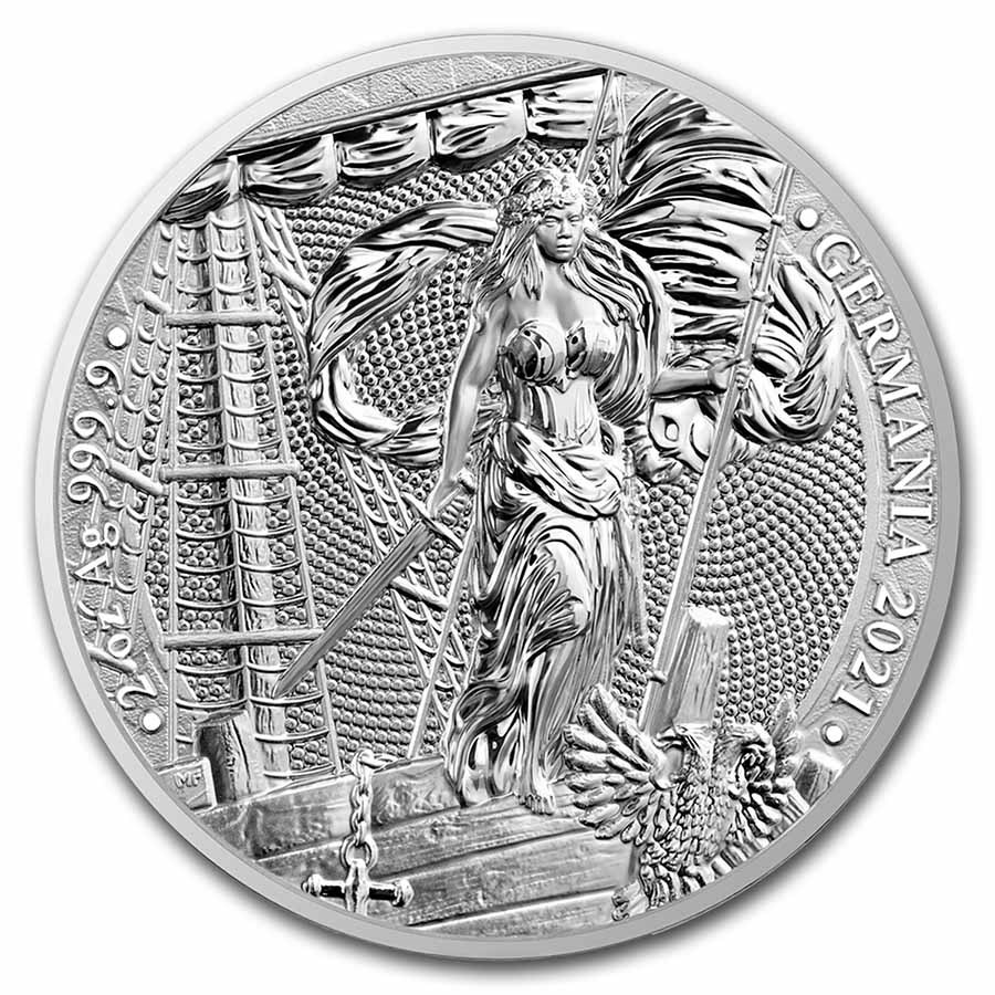 2021 Germania 2 oz Silver Round BU