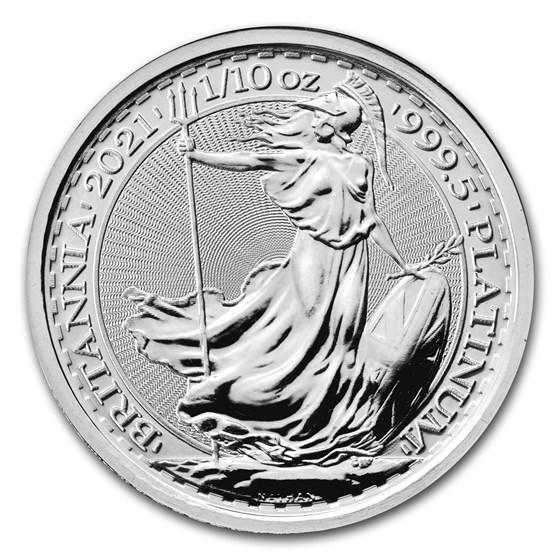 2021 Great Britain 1/10 oz Platinum Britannia BU