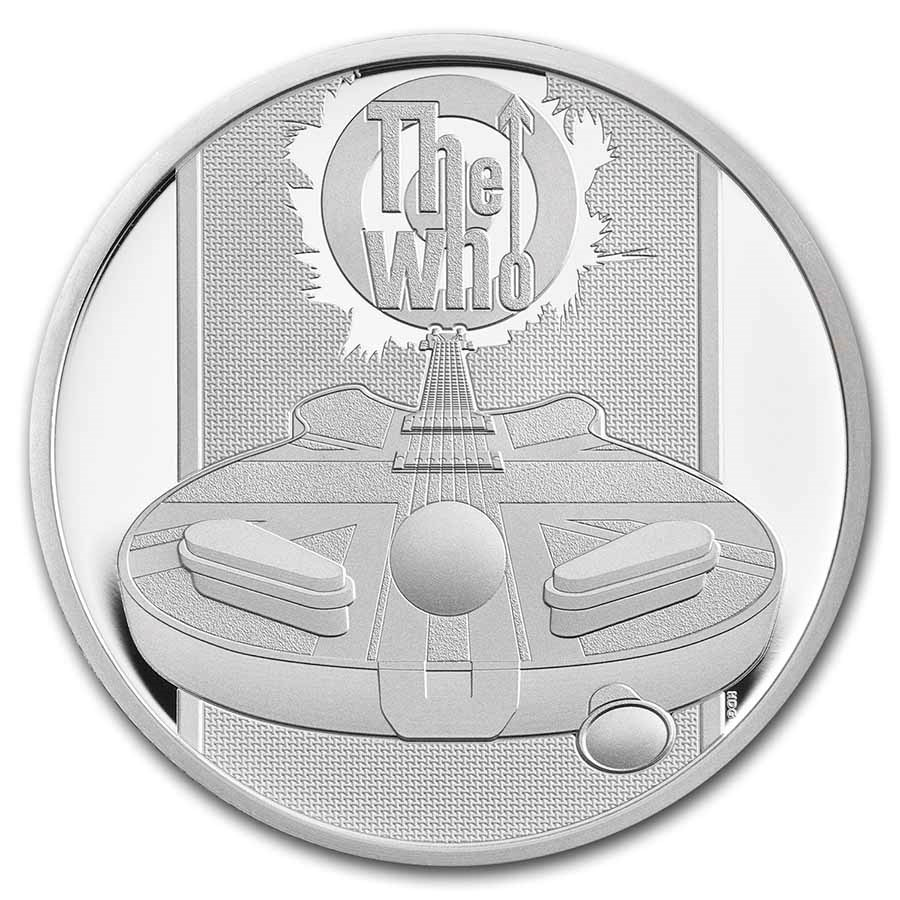 2021 Great Britain 1/2 oz Proof Silver Music Legends: The Who