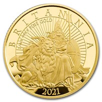 2021 Great Britain 1/4 oz Proof Gold Britannia