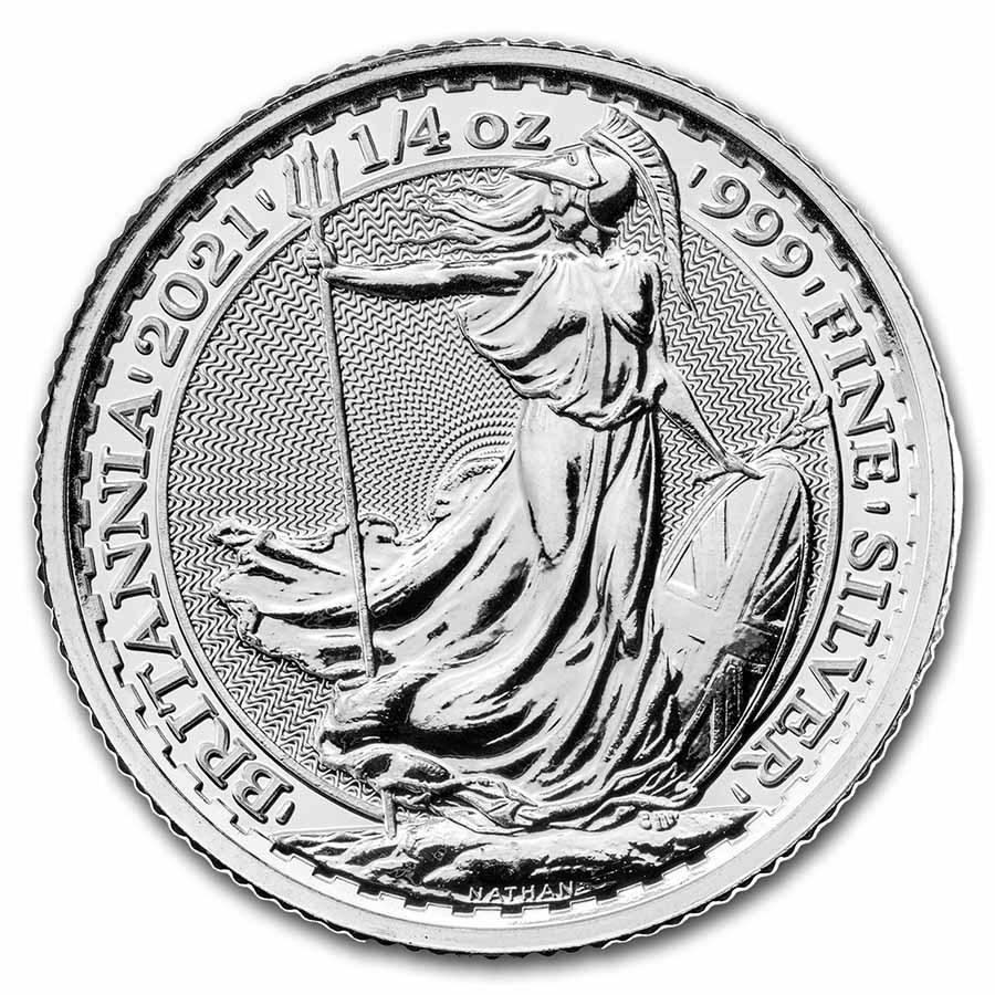 2021 Great Britain 1/4 oz Silver Britannia BU