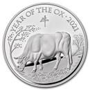 2021 Great Britain 1 kilo Silver Year of the Ox Proof (Box & COA)