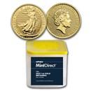 2021 Great Britain 1 oz Gold Britannia (10-Coin MintDirect® Tube)