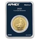 2021 Great Britain 1 oz Gold Britannia (MintDirect® Single)