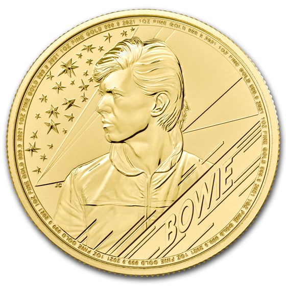 2021 Great Britain 1 oz Gold Music Legends: David Bowie BU