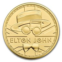 2021 Great Britain 1 oz Gold Music Legends: Elton John BU