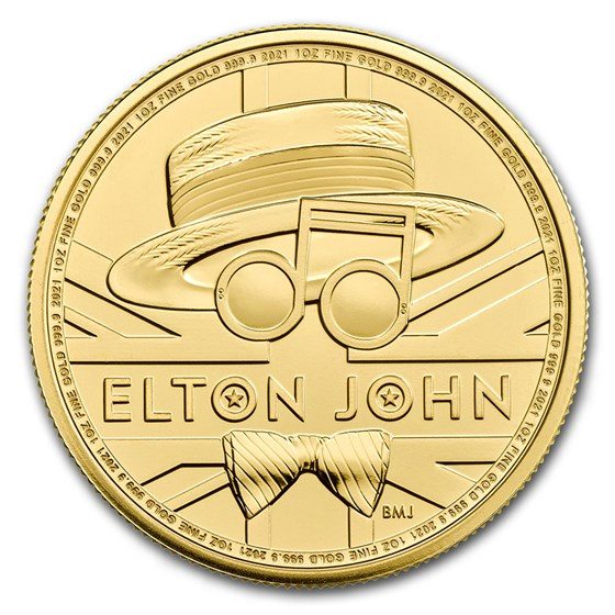 2021 Great Britain 1 oz Gold Music Legends: Elton John BU