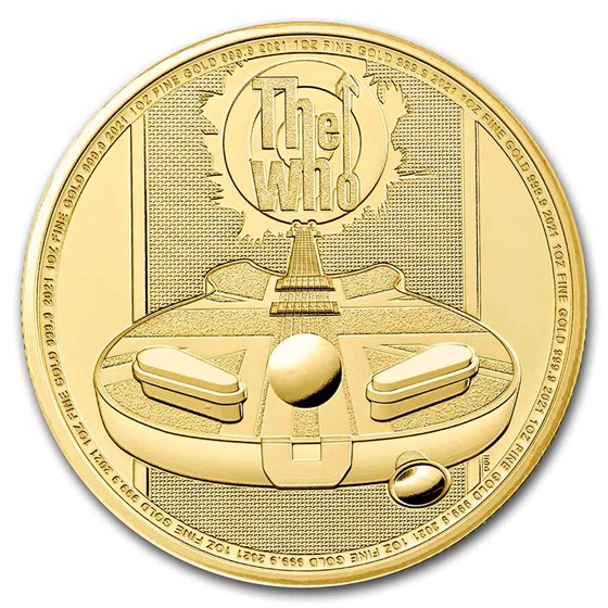 2021 Great Britain 1 oz Gold Music Legends: The Who BU