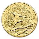 2021 Great Britain 1 oz Gold Myths and Legends: Robin Hood BU