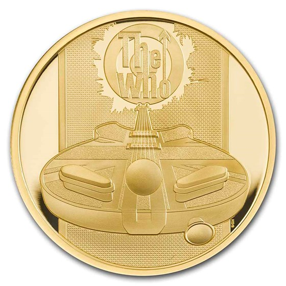 2021 Great Britain 1 oz Gold Proof Music Legends: The Who