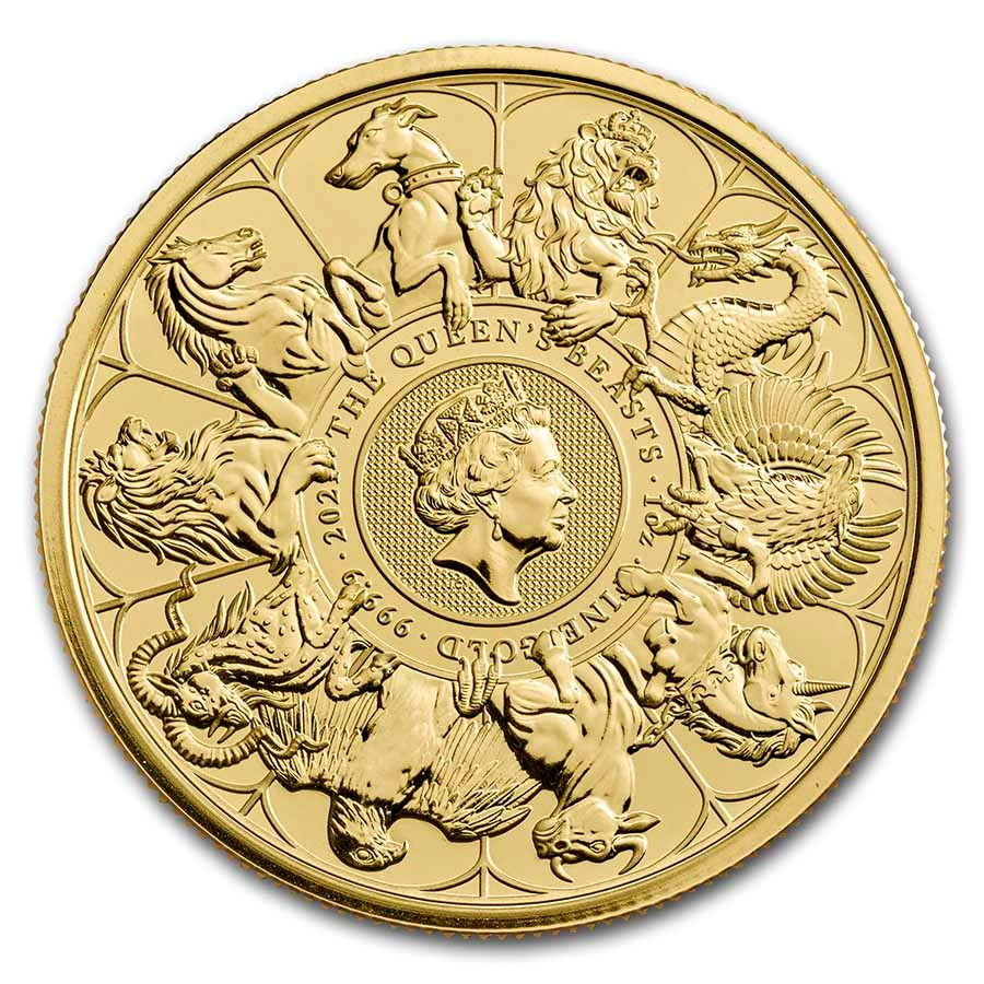 2021 Great Britain 1 oz Gold Queen's Beasts Collector Coin