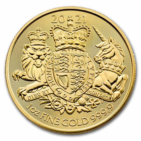 2021 Great Britain 1 oz Gold The Royal Arms BU