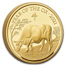 2021 Great Britain 1 oz Gold Year of the Ox Proof (Box & COA)
