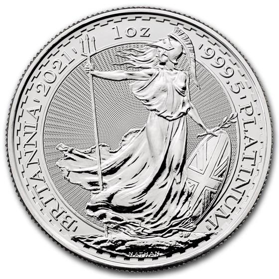 2021 Great Britain 1 oz Platinum Britannia BU