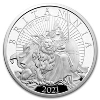 2021 Great Britain 1 oz Proof Silver Britannia
