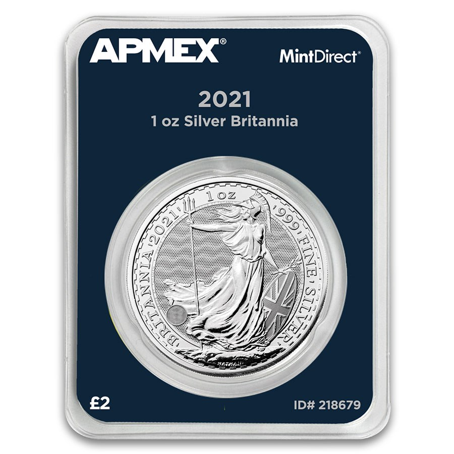 2021 Great Britain 1 oz Silver Britannia (MintDirect® Single)