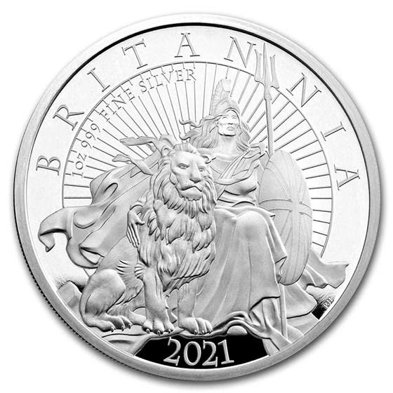 2021 Great Britain 1 oz Silver Britannia Proof