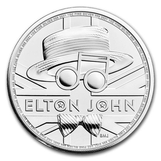 2021 Great Britain 1 oz Silver Music Legends: Elton John BU
