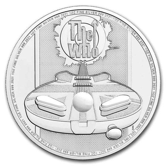 2021 Great Britain 1 oz Silver Music Legends: The Who BU