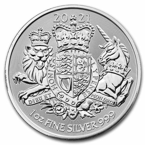 2021 Great Britain 1 oz Silver The Royal Arms BU