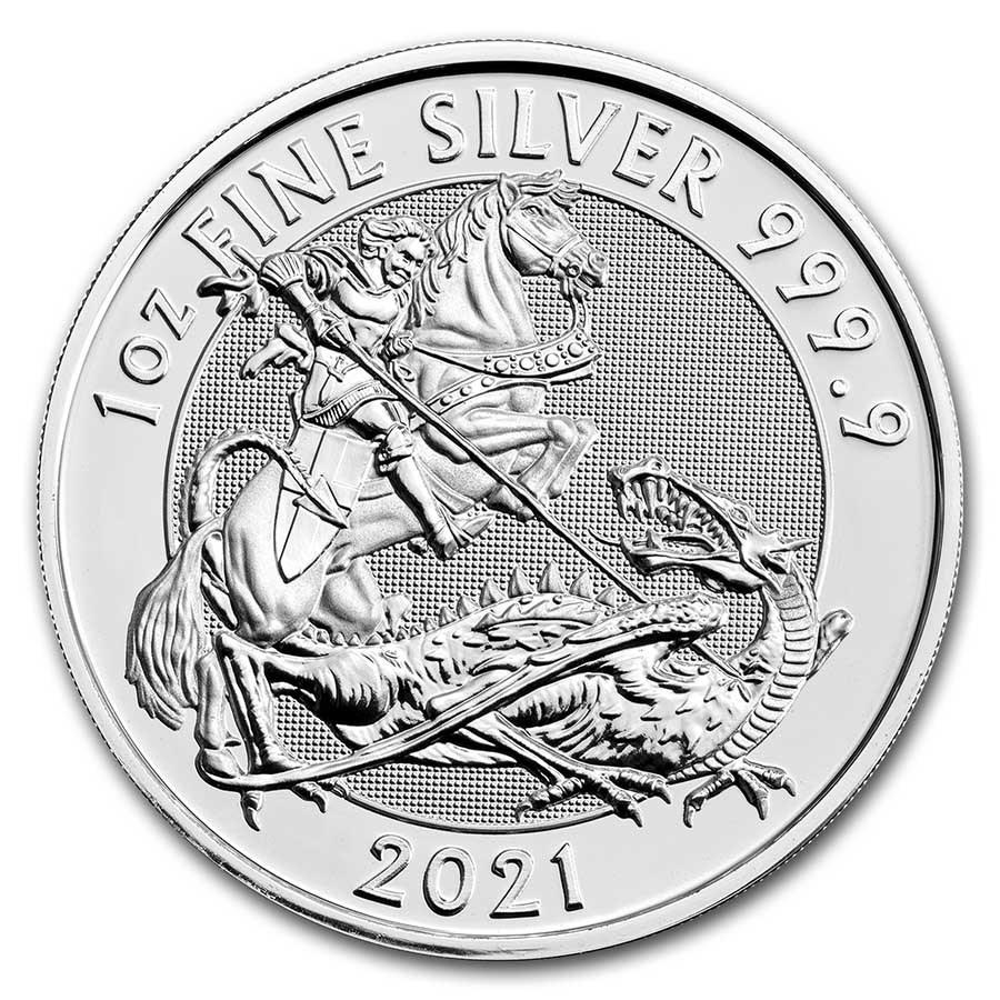 2021 Great Britain 1 oz Silver Valiant BU