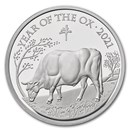 2021 Great Britain 1 oz Silver Year of the Ox Proof (Box & COA)