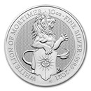2021 Great Britain 10 oz Silver Queen's Beasts The White Lion