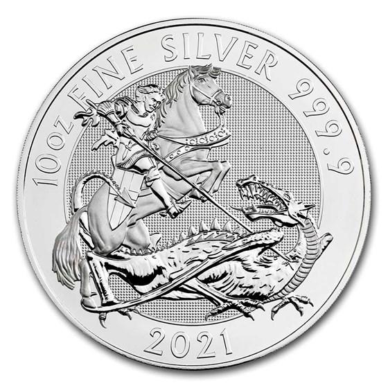 2021 Great Britain 10 oz Silver Valiant BU