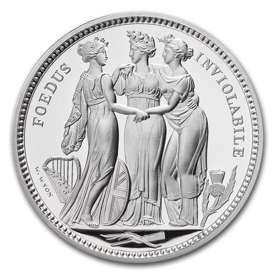 2021 Great Britain 2 Kilo Silver The Three Graces Proof