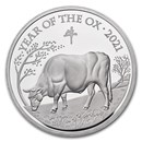 2021 Great Britain 5 oz Silver Year of the Ox Proof (Box & COA)