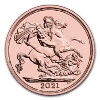 2021 Great Britain Gold Sovereign BU