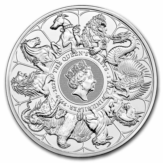 2021 Great Britain kilo Silver Queen's Beasts Collector Coin