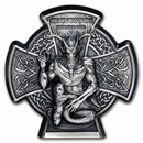 2021 Isle of Man 3 oz Silver Horned God: Cernunnos