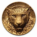 2021 Ivory Coast 1 oz Gold Haut Relief Leopard