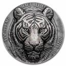 2021 Ivory Coast 5 oz Antique Silver Big Five Asia: Tiger