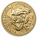 2021 Laos 1 oz Gold 2000 KIP Tiger BU (Panthera Tigris)