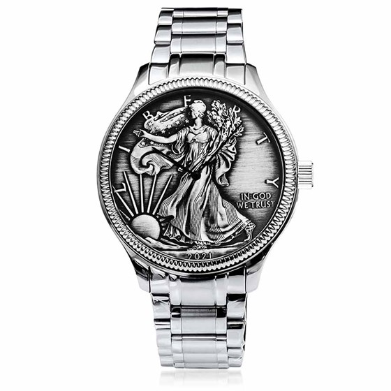 2021 Men's Antiqued SAE Watch Stainless Steel Bracelet