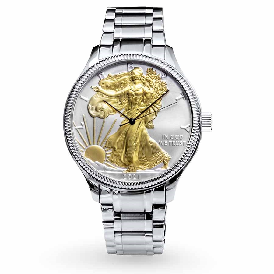 2021 Men's Gilded SAE Watch Stainless Steel Bracelet