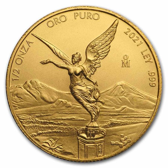 2021 Mexico 1/2 oz Gold Libertad BU