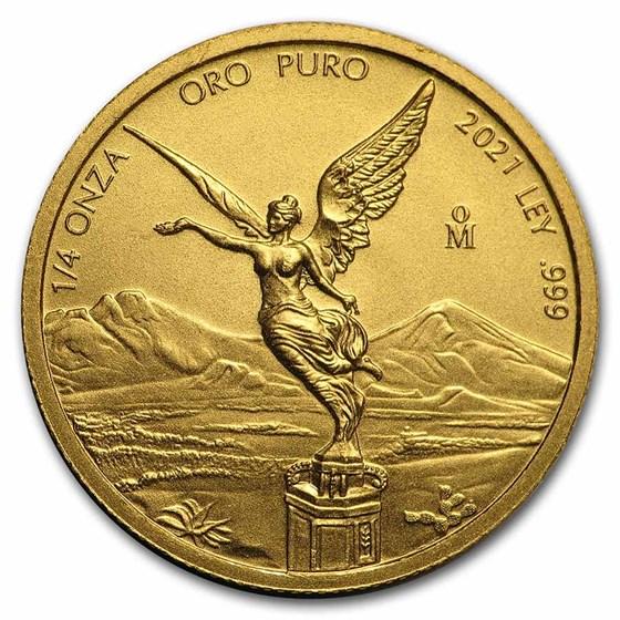 2021 Mexico 1/4 oz Gold Libertad BU