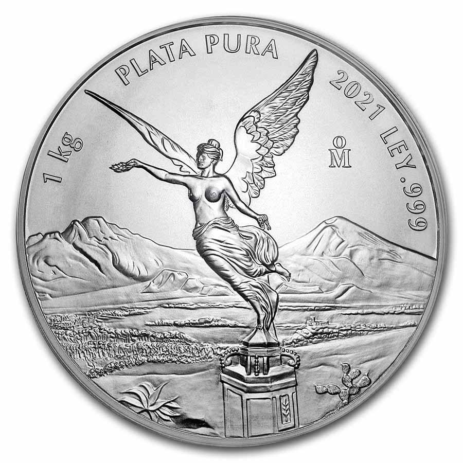 2021 Mexico 1 kilo Silver Libertad BU (In Capsule)
