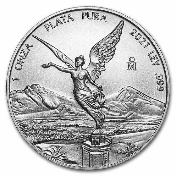 2021 Mexico 1 oz Silver Libertad BU