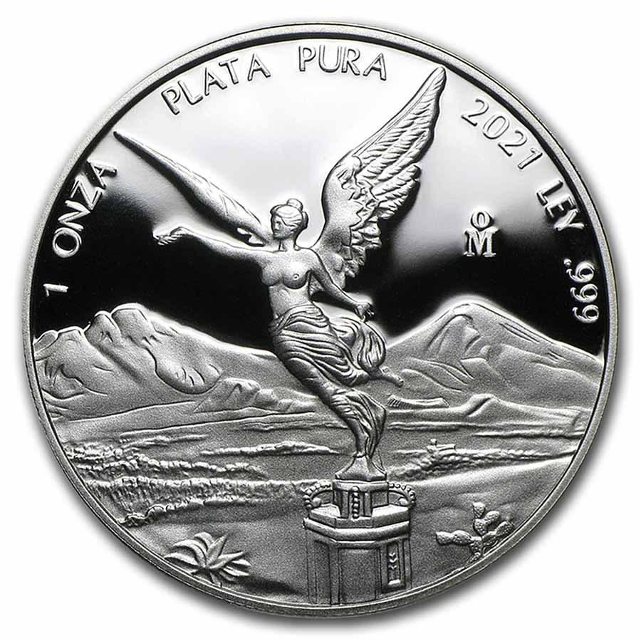 2021 Mexico 1 oz Silver Libertad Proof (In Capsule)