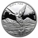 2021 Mexico 2 oz Silver Libertad Proof (In Capsule)