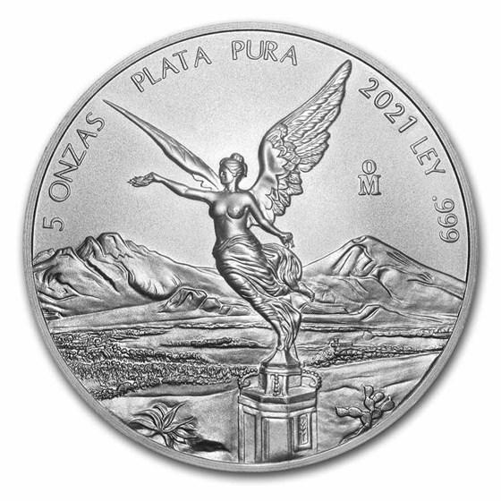 2021 Mexico 5 oz Silver Libertad BU