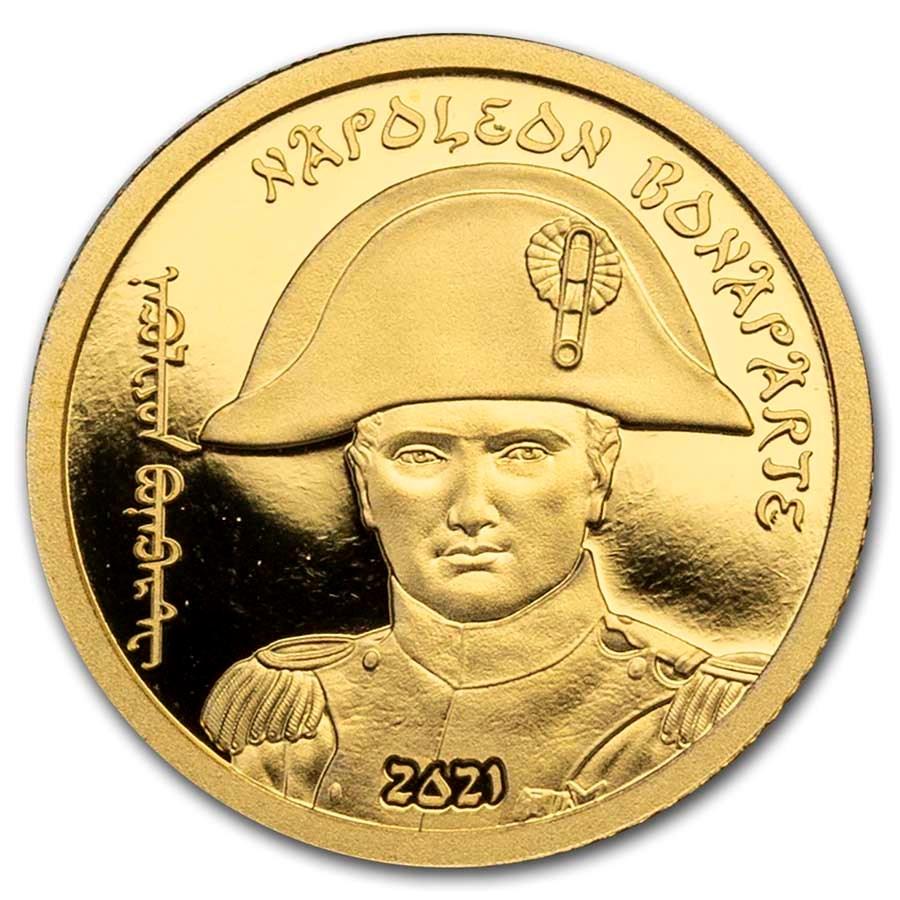 2021 Mongolia 1/2 gram Gold Revolutionaries (Napoleon Bonaparte)