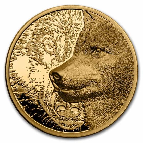 2021 Mongolia 1 oz Gold Proof Mystic Wolf