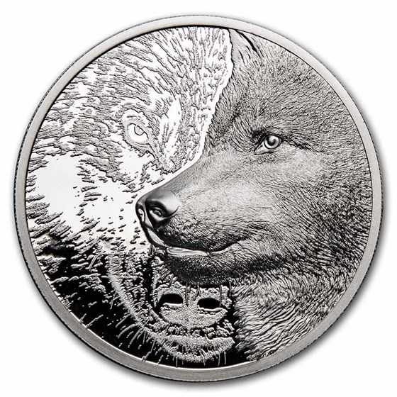2021 Mongolia 1 oz Platinum Proof Mystic Wolf